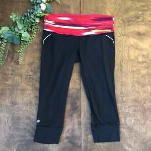 Athleta Airbrush Relay Crop Leggings | Size S